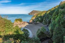 The Bristol Channel Coast With Broadsands Beach, North Devon, England, UK