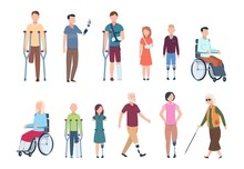 Disabled Persons. Diverse Inju...