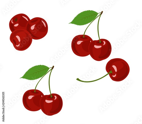 Tablou Canvas Cherry vector illustration