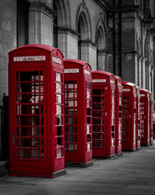 Red Old English Phone Boxes In...