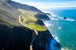 Big Sur Highway 1 Ca-1 California Küstenstrasse am Pazifik Drohnenaufnahme