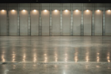 Warehouse With Ceiling Light F...