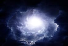 Cloudscape With A Light