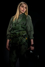 Beautiful Female Fighter Pilot...