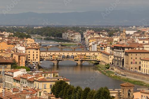 Spoed Fotobehang Europa View from Piazzale Michelangelo