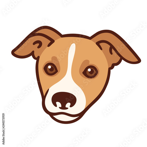 Obraz Cartoon dog portrait - fototapety do salonu