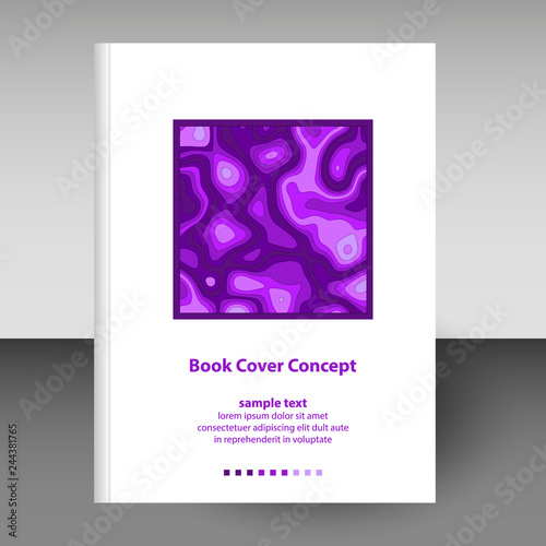 Fotografija  vector cover of diary or notebook hardcover - format A4 layout brochure concept