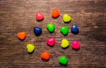 Small Colorful Hearts