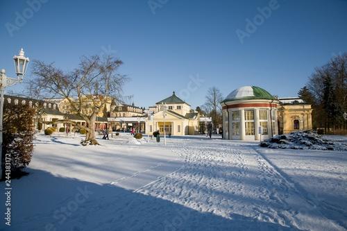 Fotografie, Obraz  Center of small spa town Frantiskovy Lazne (Franzensbad) in west part of Czech R