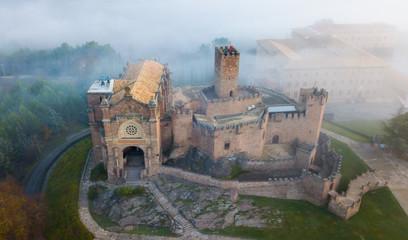 Poznata tvrđava Castillo de Javier u ranim jutarnjim satima. Navarre. Aragon. Španjolska