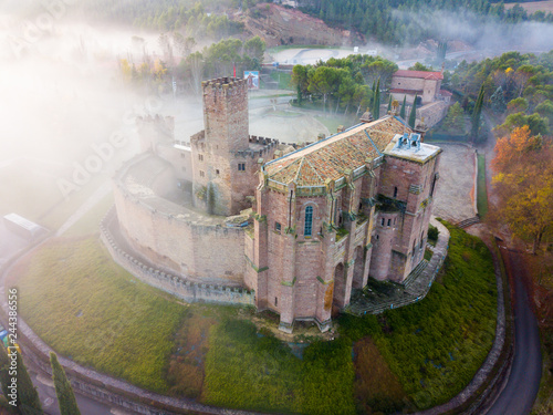 Photographie  Famous fortress Castillo de Javier in the early morning