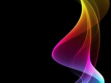 Abstract Multicolored Light Waves Background