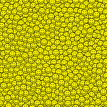 Seamless Pattern With Smile Ic...