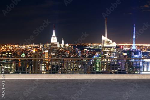 Deurstickers New York Rooftop luxury view