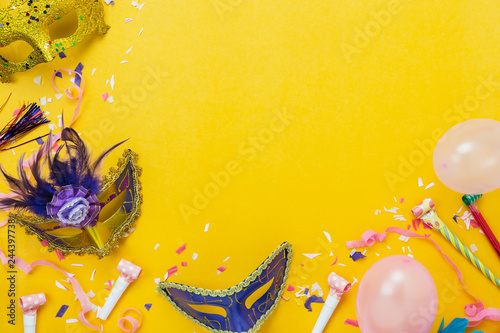 Table Top View Aerial Image Of Beautiful Colorful Decorations