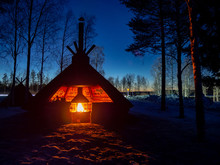 Lapland Shelter With Fireplace...