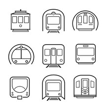 Subway Metro Icon Set. Vector Elements. Can Use For Your Design, Interface, Website, Infographic And Etc.