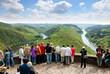 canvas print picture - Saarland - Saarschleife Aussicht von der Cloef bei Orscholz