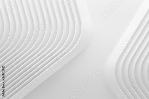 Fotografía  curve line white 3d background .