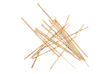 Dried Reeds Isolated On A Whit...