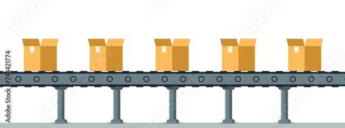 Cuadros en Lienzo Box on Automatic Mechanical Packing Conveyor Line