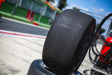 Old Tyres Of Supercars In The ...