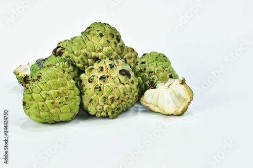 Exotic Brazilian fruit as known as Fruta do Conde or Fruta Pinha Wallpaper Mural
