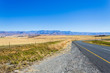 canvas print picture - Perspective road view from South Africa, Dragon's mountains