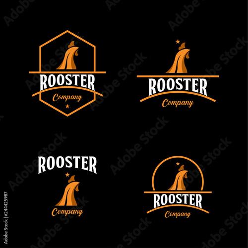 Fotografía Rooster Company Logo Vector Template Design Illustration