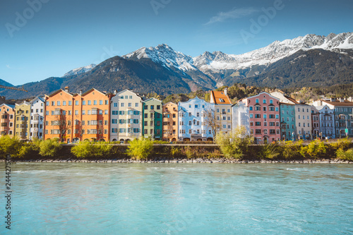 Photo sur Toile Europe Centrale City of Innsbruck with Inn river, Tyrol, Austria