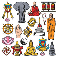 Buddhism Religion Vector Isola...