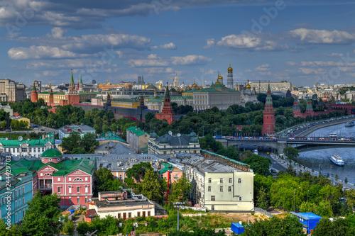 Foto auf Gartenposter Stadt am Wasser Moscow Skyline - Russia
