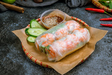 Fresh Spring Roll With Shrimps...