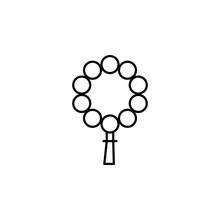 Funeral, Bead Icon. Element Of Death Icon For Mobile Concept And Web Apps. Detailed Funeral, Bead Icon Can Be Used For Web And Mobile