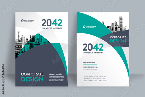 Fototapeta City Background Business Book Cover Design Template obraz