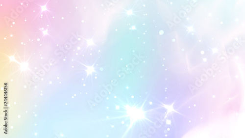 Photo  Abstract Pastel Fairy background with rainbow mesh