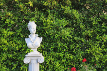 Woman Statue In The Garden Wit...