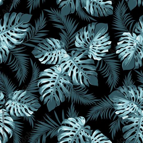 Tropikalny wzór liścia