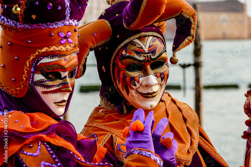 Photo View in Venice City During the Carnival Holiday