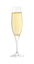 Full Glass Of Champagne Isolat...