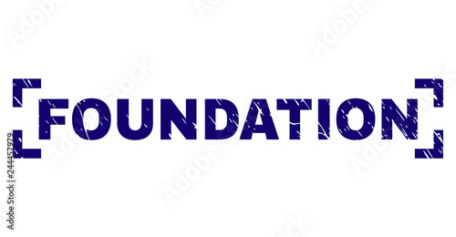 FOUNDATION title seal watermark with corroded texture  Text