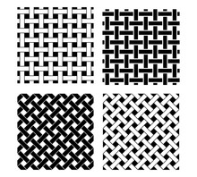 Seamless Knot Pattern In Black...