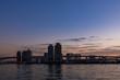 (東京都ー都市風景)豊洲側から望むお台場方面の夕景5