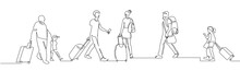 People Walking With Luggage Co...