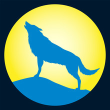 Howling Wolf Vector Wolf Shouting