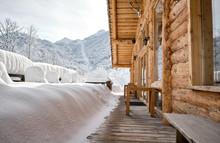 Panorama Of The Snow Mountain ...