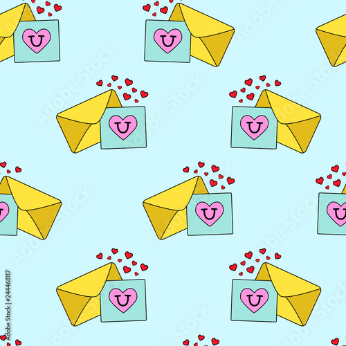 Cute kids love letters pattern for girls and boys  Colorful