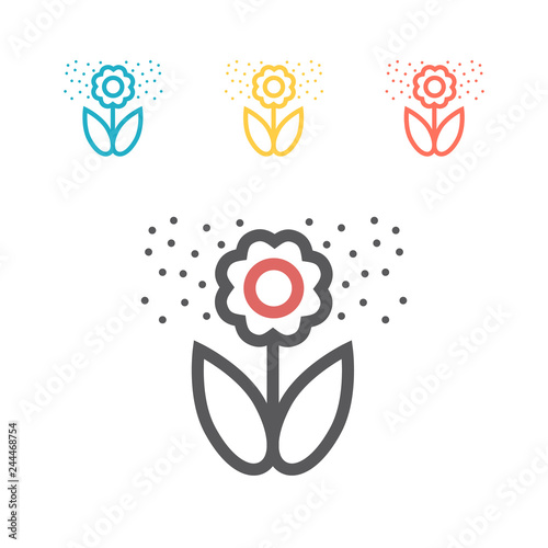 Flower pollen line icon. Vector icon for web graphic. Slika na platnu