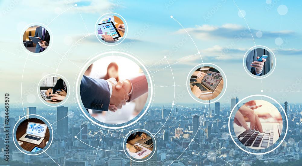 Fototapeta ビジネスとネットワーク