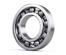 Ball Bearing Isolated On White...